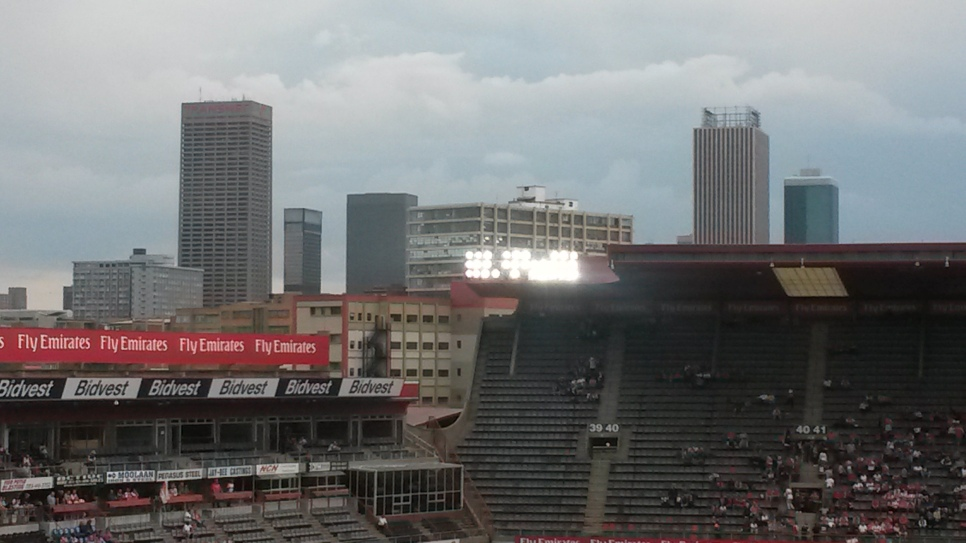 Johannesburg from Ellis Park